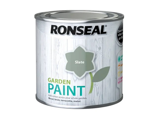 Ronseal Garden Paint Slate 250ml 	37384