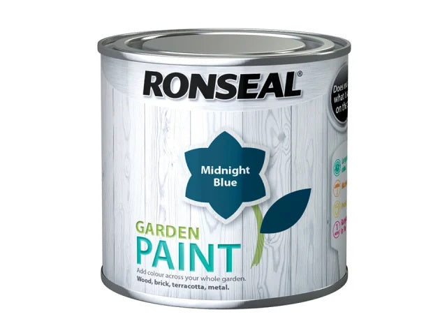 Ronseal Garden Paint Midnight Blue 250ml 37389