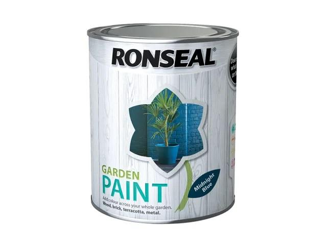 Ronseal Garden Paint Midnight Blue 750ml 37413