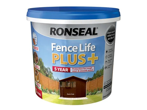 Ronseal Fence Life Plus + Dark Oak 5 Litres