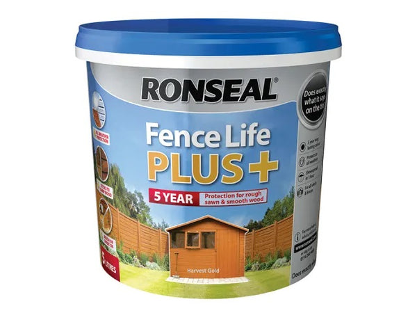 Ronseal Fence Life Plus + Harvest Gold 5 Litres