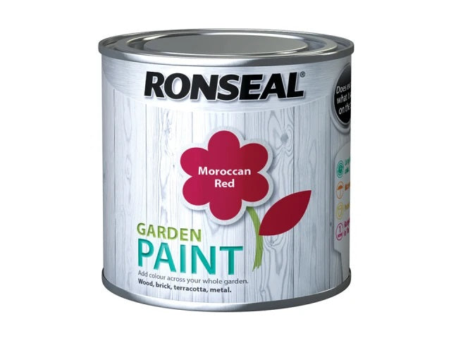 Ronseal Garden Paint Moroccan Red 250ml 38268