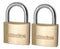 Sterling BPL442 Double Lock Brass Padlocks 2 x 40mm