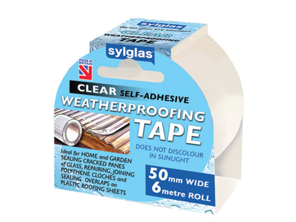 Syglas 8620007 Clear Waterproofing Tape 50mm x 6m