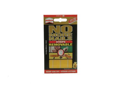Unibond 1507604 No More Nails Removable Strips