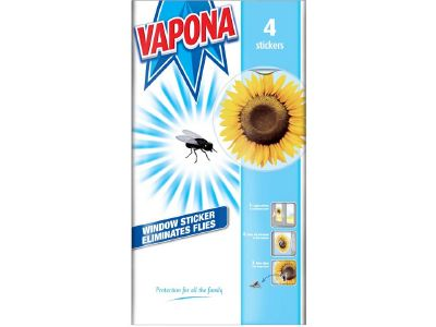 Vapona 2044433 Window Fly Stickers