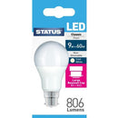Status LED 9W=60W GLS Large Bayonet Cap Cool White Pearl Light Bulb BC-B22