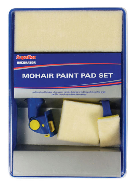 SupaDec Decorator Mohair Paint Pad Set - Pack of 5