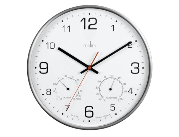 Acctim Komfort Thermo/Hygro Wall Clock 29147