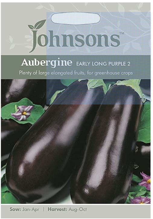 Johnsons Solanum melongena - Aubergine Early Long Purple 2