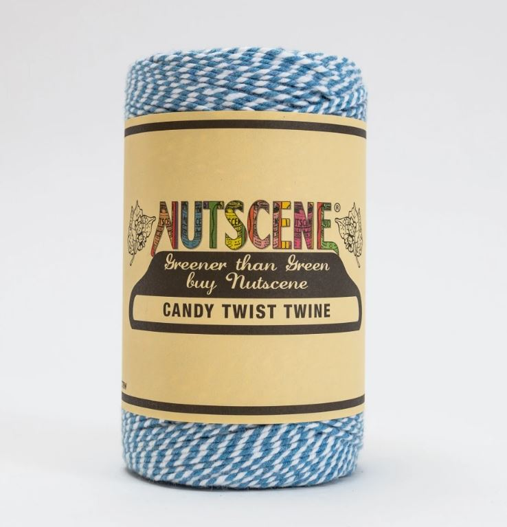 Nutscene CandyTwist Twine Baby Blue and White