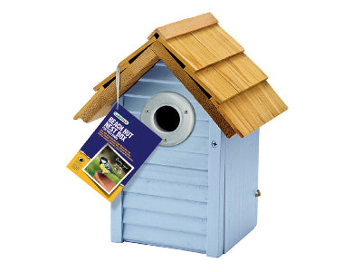 Gardman A01681 Beach Hut Nest Box Blue