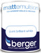 Berger Pure Brilliant White 5 Litre Matt Finish