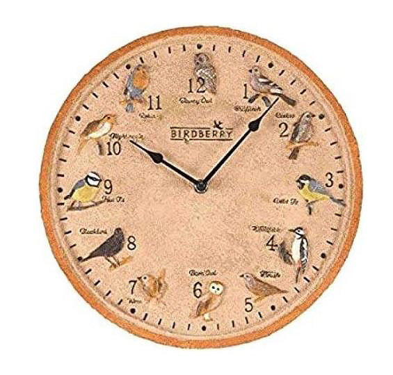 Outside In Designs Birdberry Wall Clock 12""