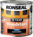 Ronseal 10 Year Woodstain Black Ebony 250ml