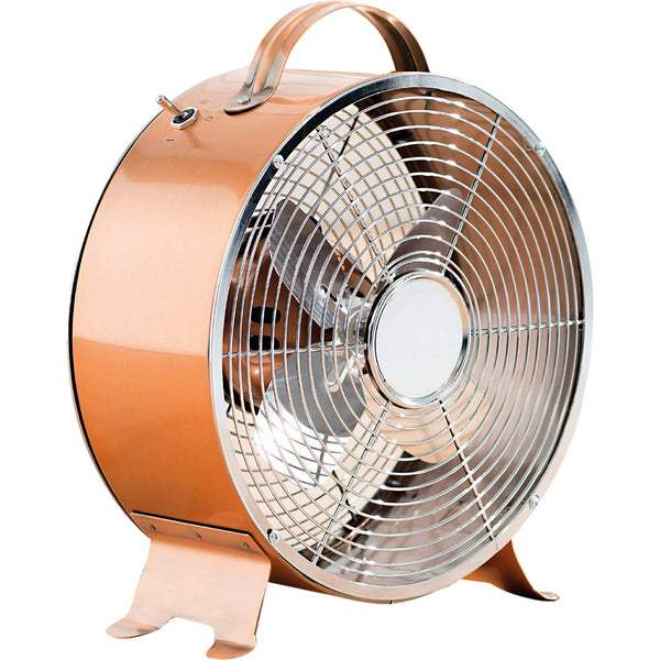 Fine Elements COL1292 8″ Copper Effect Clock Fan