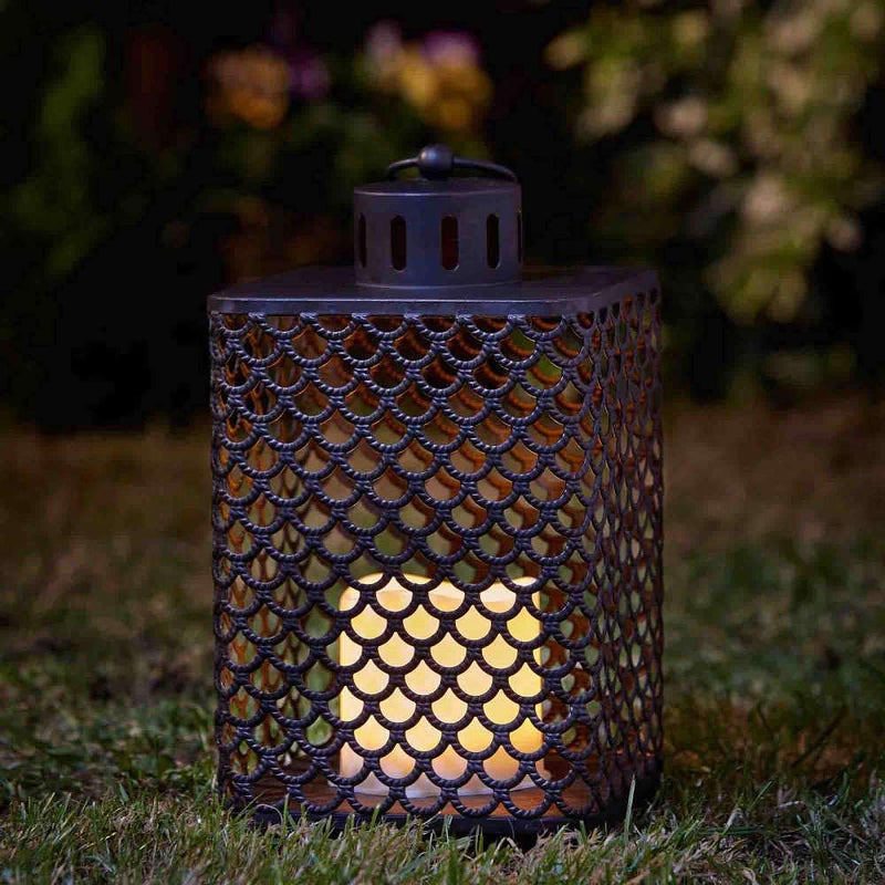 Outside In-Cairene Candle Lantern Battery Operated