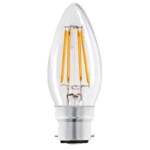 Status Filament LED 4W=40W Candle Large Bayonet Cap Warm White Clear Light Bulb BC-B22