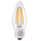Status Filament LED 4W=40W Candle Large Screw Cap Warm White Clear Light Bulb ES-E27