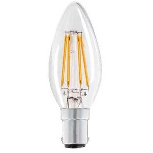 Status Filament LED 4W=40W Candle Small Bayonet Cap Warm White Clear Light Bulb SBC-B15d