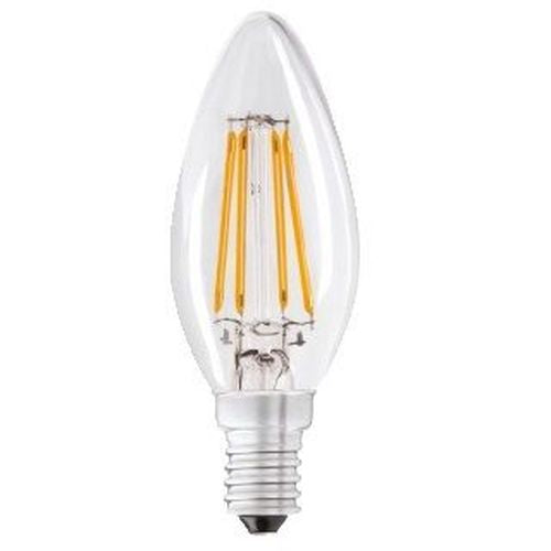 Status Filament LED 4W=40W Candle Small Screw Cap Warm White Clear Light Bulb SES-E14