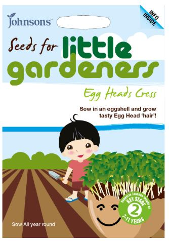 Johnsons Little Gardeners Egg Heads Cress