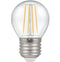 Crompton 7239 Clear LED Golfball Filament Dimmable 5W 2700K Edison Screw ES-E27 Lightbulb