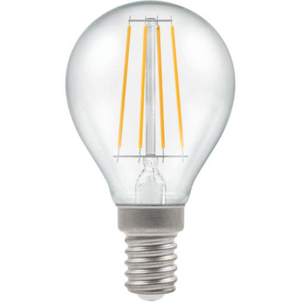 Crompton 7246 Clear LED Golfball Filament Dimmable 5W 2700K Small Edison Screw SES-E14 Lightbulb