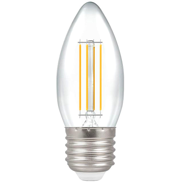 Crompton 7154 Clear LED Candle Filament Dimmable 5W 2700K ES-E27 Lightbulb