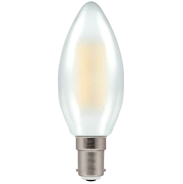 Crompton 7185 Pearl LED Candle Filament Dimmable 5W 2700K SBC-B15d Lightbulb