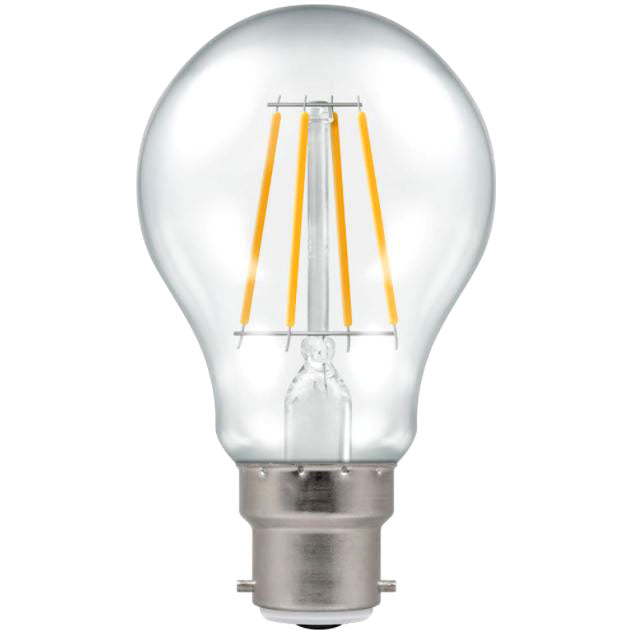 Crompton 4207 Clear LED GLS Filament Dimmable 7.5W 2700K BC-B22d Lightbulb