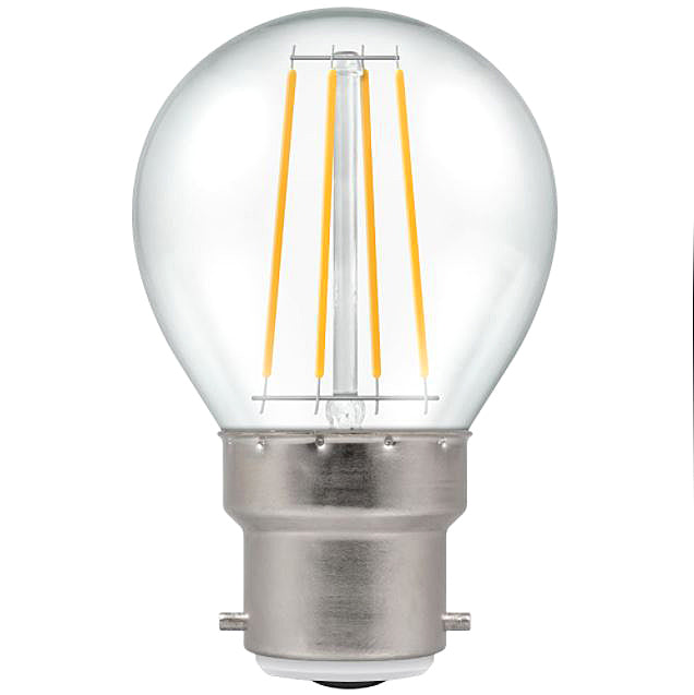 Crompton 7215 Clear LED Golfball Filament Dimmable 5W 2700K BC-B22d Lightbulb