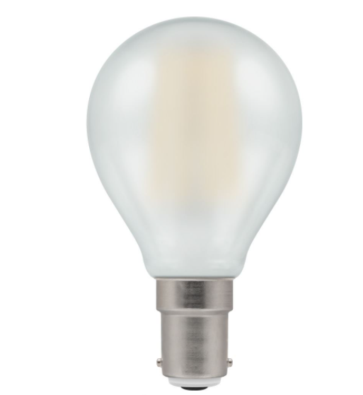 Crompton 7260 Pearl LED Golfball Filament Dimmable 5W 2700K BC-B22d Lightbulb