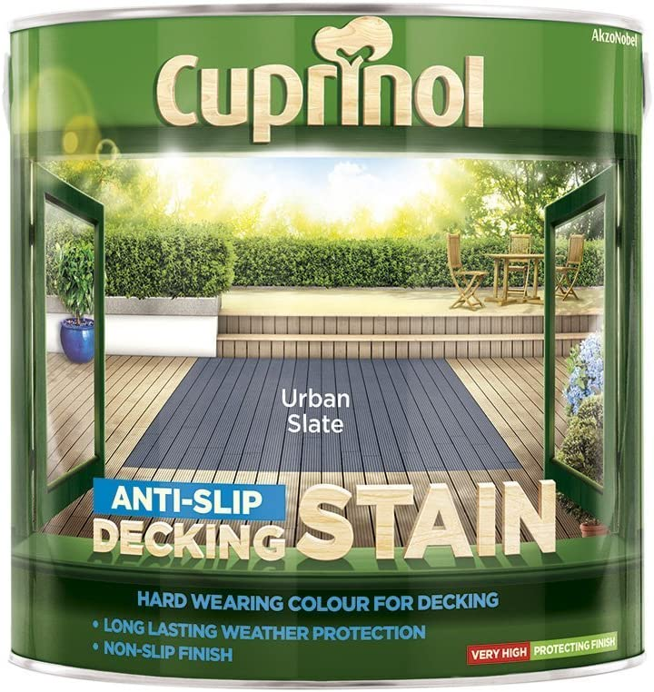 Cuprinol Anti Slip Decking Stain Urban Slate 2.5 Litre