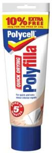 Polycell 0160090 Multi Purpose Quick Drying Polyfilla 330g + Extra 10% Free