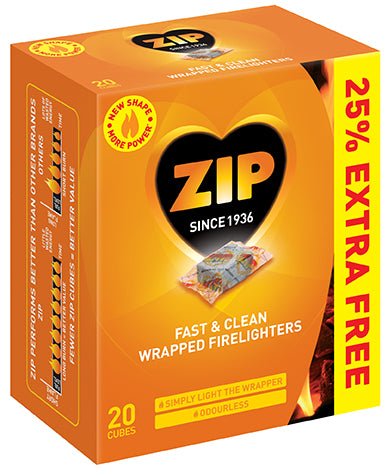 Zip SB091446 Fast & Clean Firelighter x 16 +25%