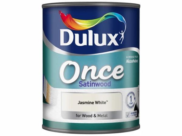 Dulux Once Satinwood Jasmine White 750ml 5091100