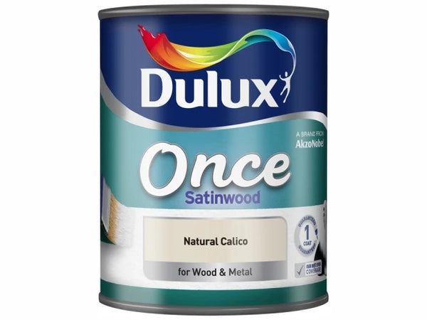 Dulux Once Satinwood Natural Calico 750ml 5091099