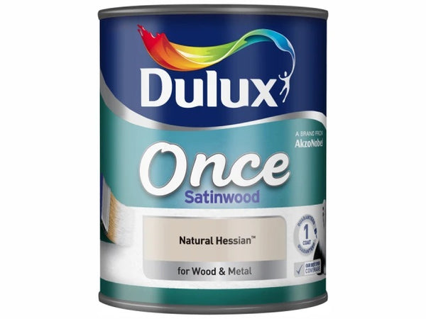 Dulux Once Satinwood Natural Hessian 750ml 5091100