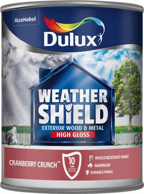 Dulux Weathershield Exterior Gloss Cranberry Crunch 750ml 5244431