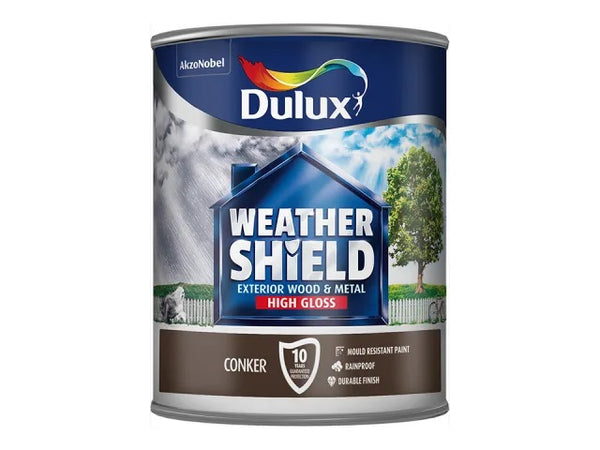 Dulux Weathershield Exterior Gloss Conker 750ml 5090992