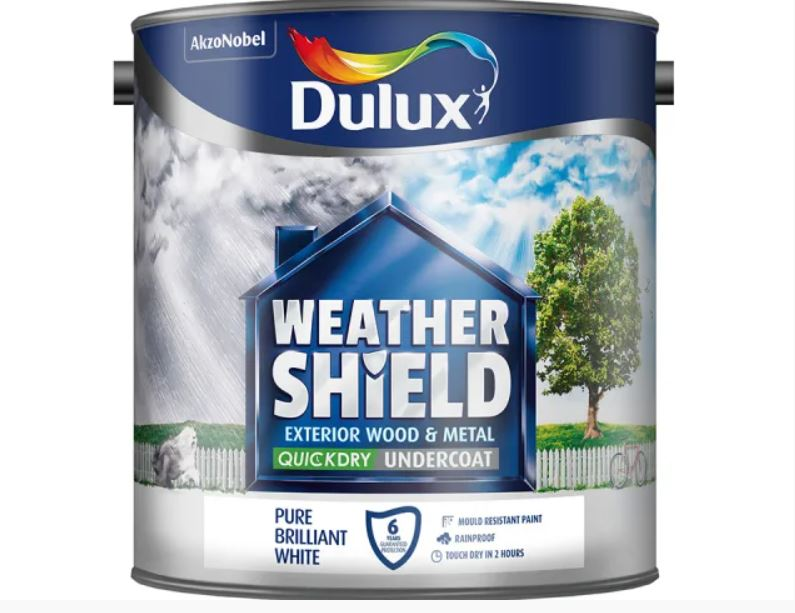 Dulux Weathershield Quick Dry Flex Undercoat White 2.5 Litres 5092087