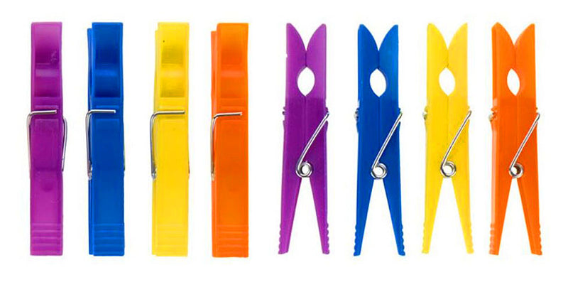 Elliot Plastic CLothes Pegs 36 Pack - Assorted Colours