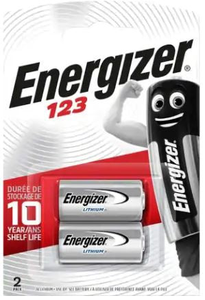 Energizer 123 Battery - Pack of 2