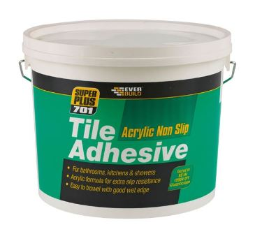 Everbuild Super Plus 701 Non Slip Tile Adhesive 3.75KGEverbuild Super Plus 701 Non Slip Tile Adhesive 3.75KG