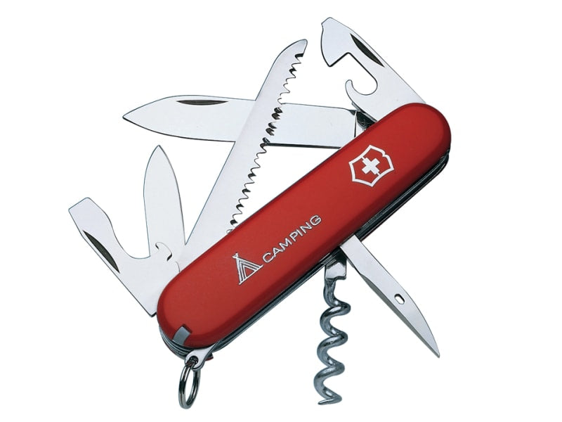 Swiss Army Knife - Camper - Blister Pack (Red)