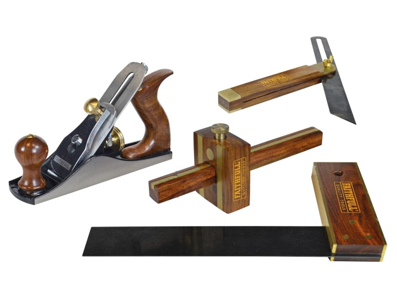 Faithfull Plane & Woodworking Set (4pc)
