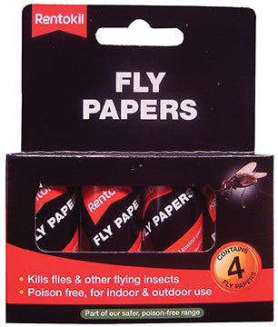 Rentokil FF40 Fly Papers - Pack of 4
