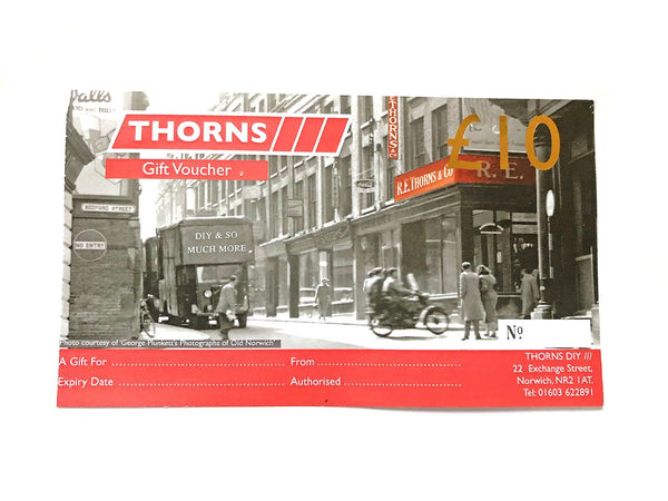 Thorns Gift Voucher £10