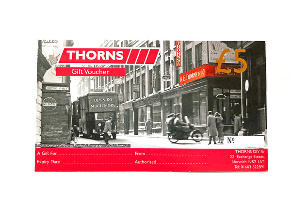 Thorns Gift Voucher £5